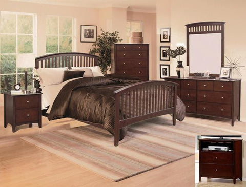 Lawson 5 Piece Bedroom Set Cappuccino