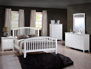 Lawson 5 Piece Bedroom Set White