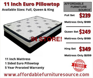**limited** 11 Inch Euro Pillowtop Mattress