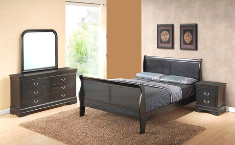Louis Grey 4 Piece Bedroom Set