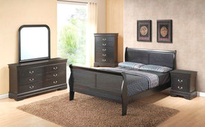 Louis Grey 5 Piece Bedroom Set