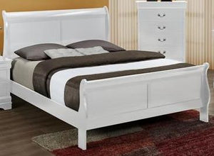 Louis White Bed