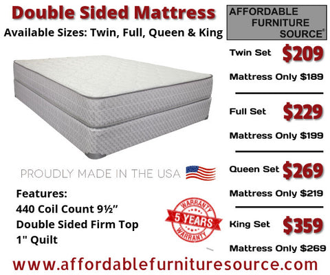 Merrick Double Sided Mattress Set