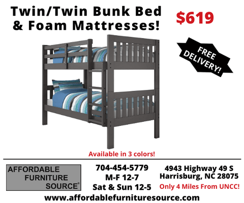Twin/Twin Bunk Bed Package Deal