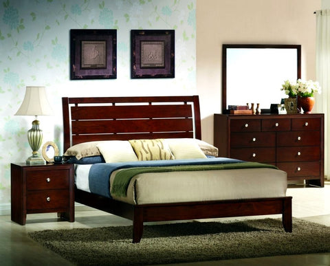 Evan Cherry 4 Piece Bedroom Set