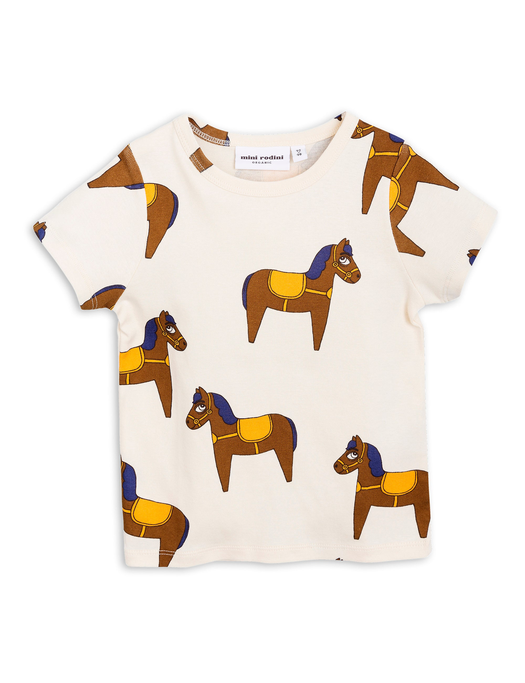 MINI RODINI - Horse Short Sleeve Tee / Yellow
