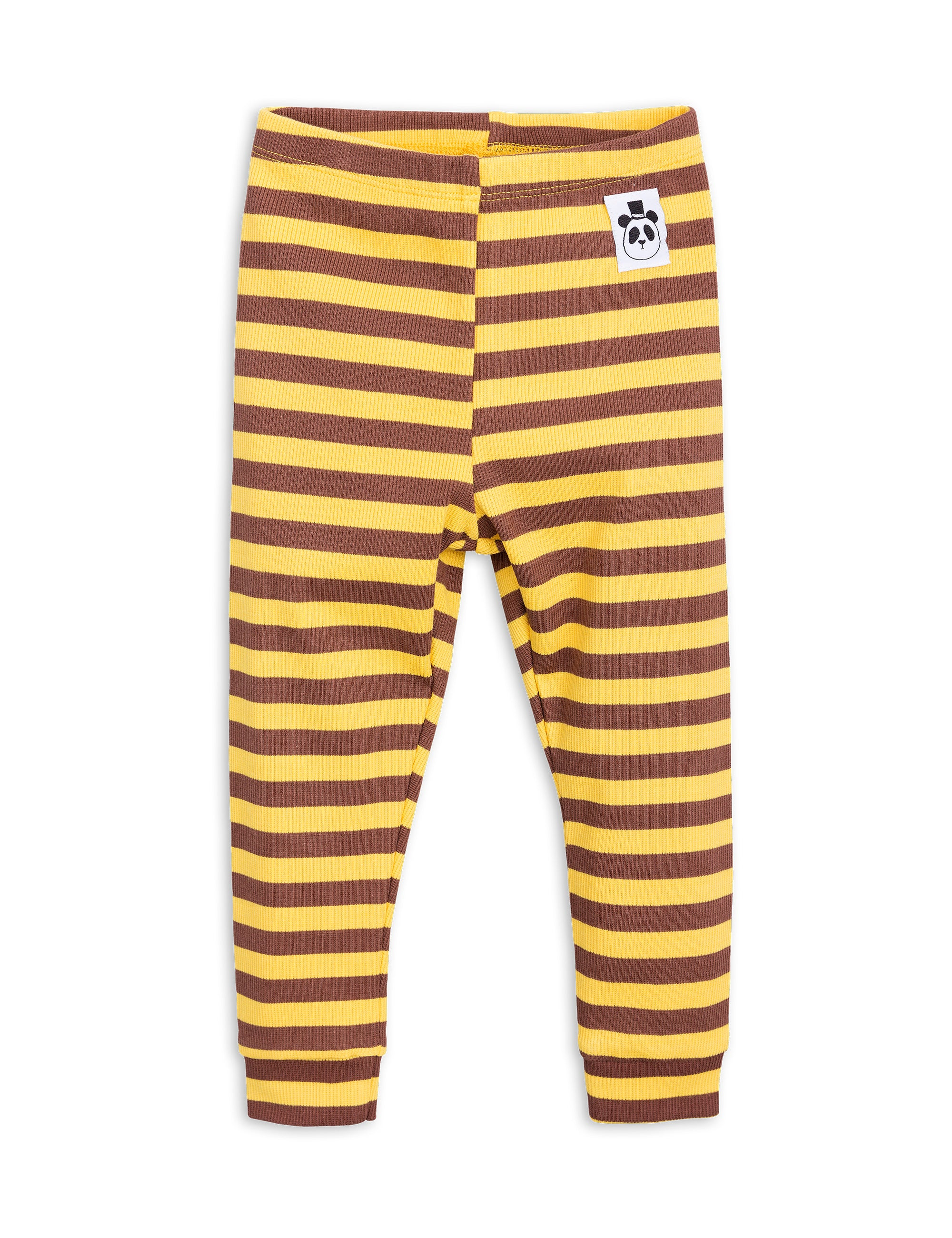 MINI RODINI - Stripe Rib Leggings / Yellow