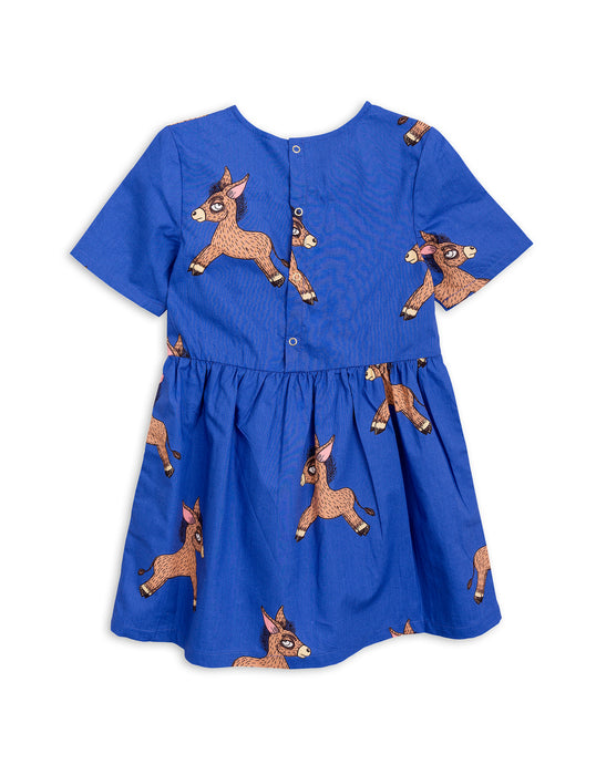 MINI RODINI - Donkey Woven Dress / Blue