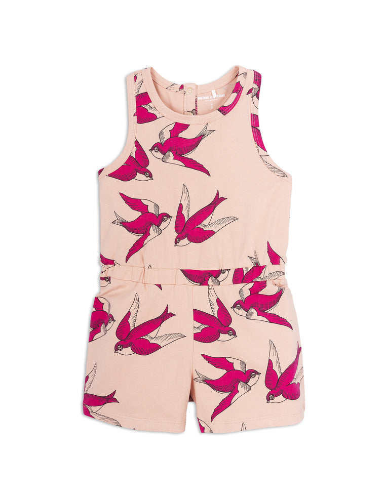 MINI RODINI - Swallows Summersuit / Pink