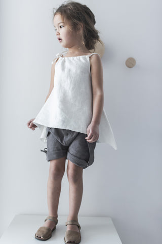 MOUSE IN A HOUSE - Linen Button Shorts