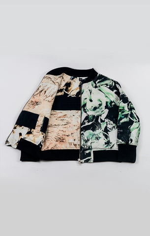 AGATHA CUB - 2 Way Bomber Jacket / Fungi Emerald