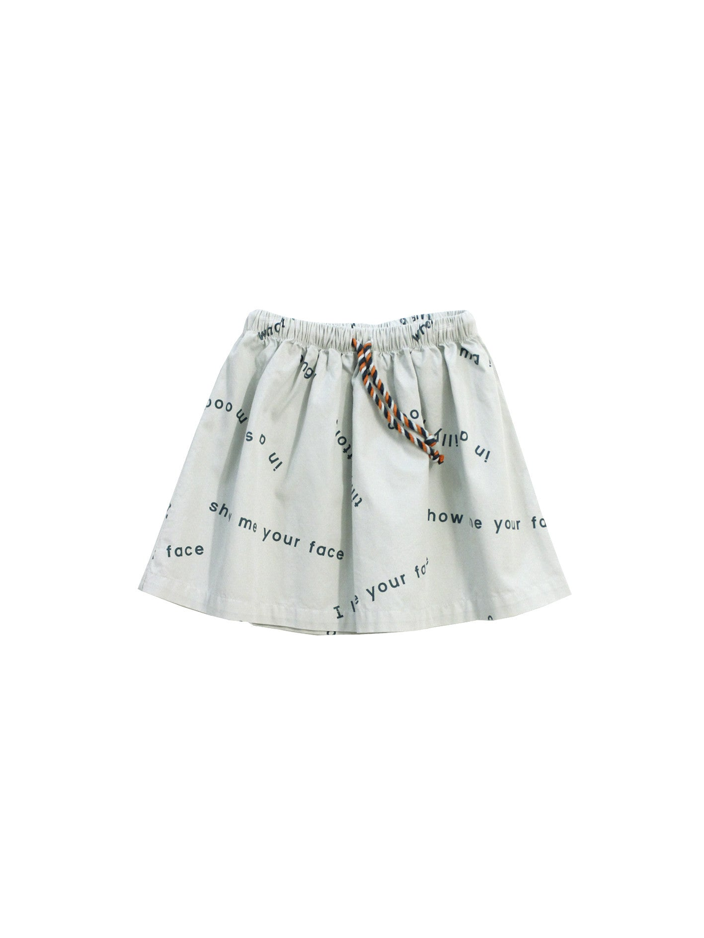 TINY COTTONS - Many Words Woven Skirt / Light Blue