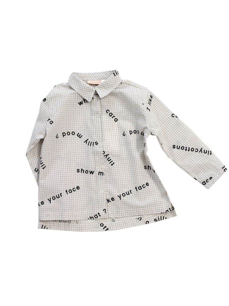 TINY COTTONS - Many Words Woven Shirt (LAST ONE 12-18M)