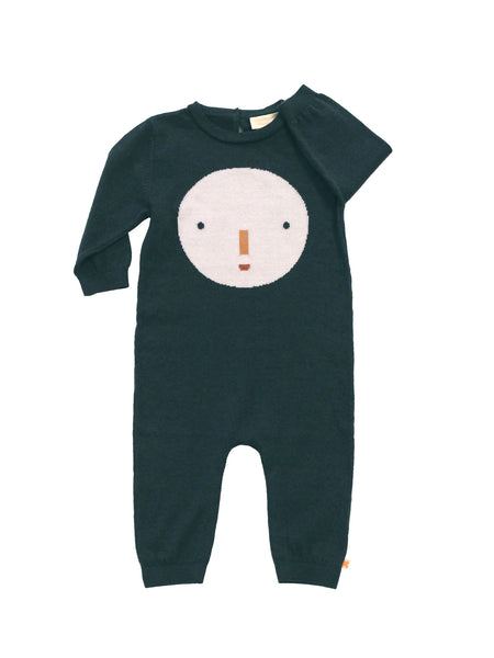 TINY COTTONS - Onepiece Knit / Big Face (LAST ONE 3/6M)