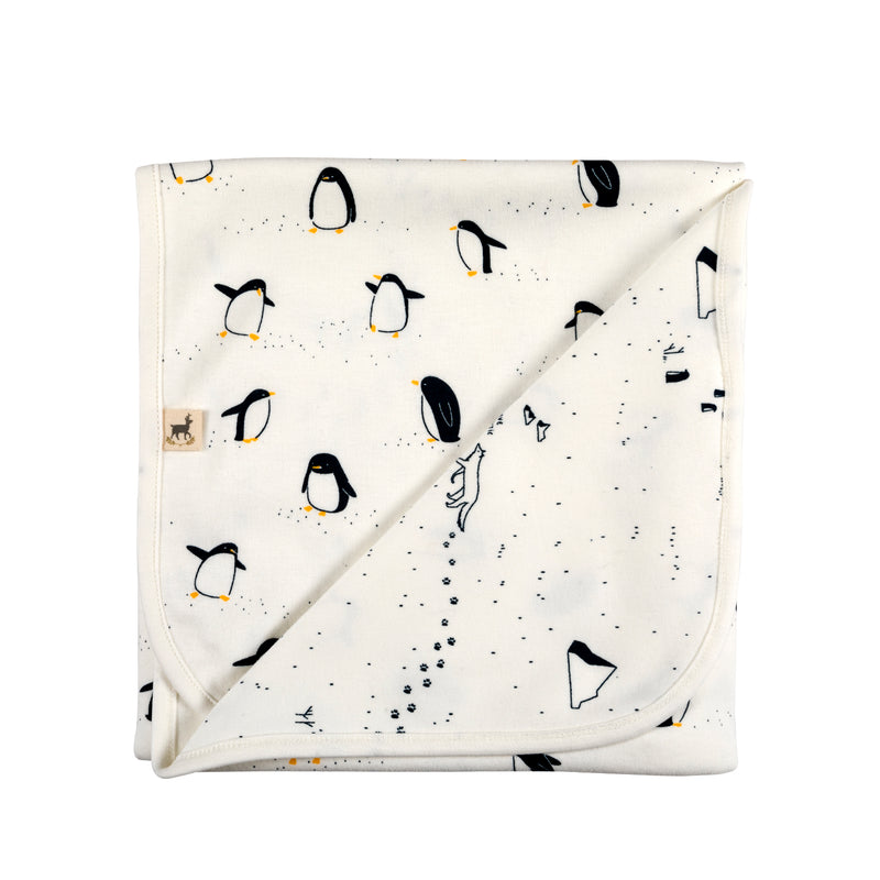 RED CARIBOU - 4 Piece Gift Set Arctic Penguins / Ivory