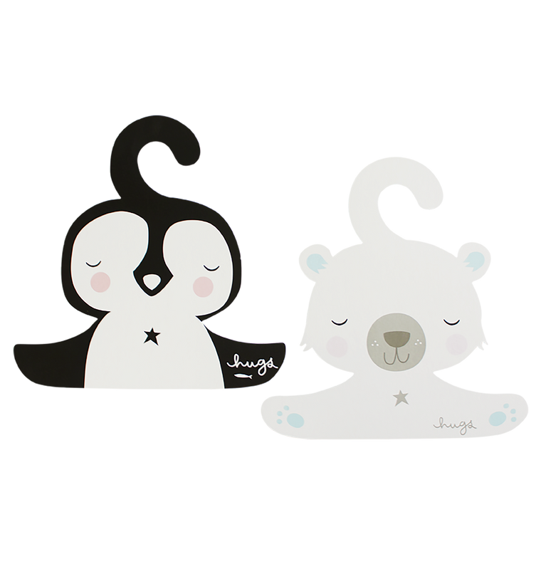ALLC - Hanger Set / Penguin & Polar Bear