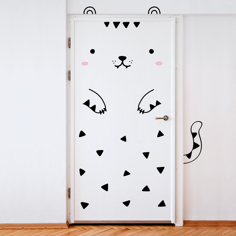 MADE OF SUNDAYS - Tofu the Tiger Door Decal