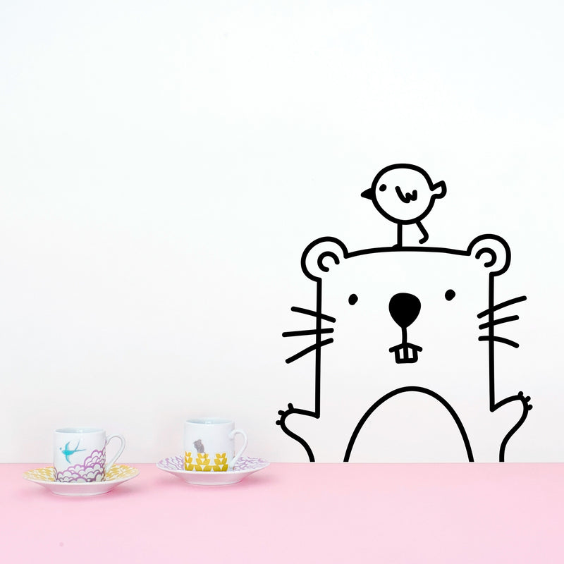 MADE OF SUNDAYS - Tiny Marcus the Hamster Wall Decal