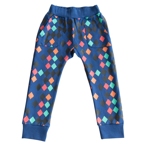 GARDNER AND THE GANG - The Hangout Pants Harlequin / Blue