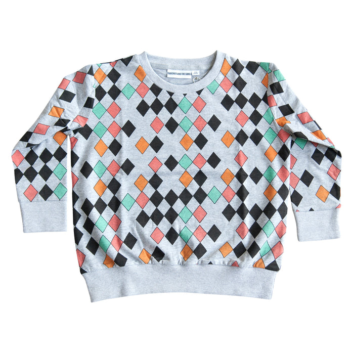 GARDNER AND THE GANG - The Light Sweater Harlequin / Grey (LAST ONE 9-12M)