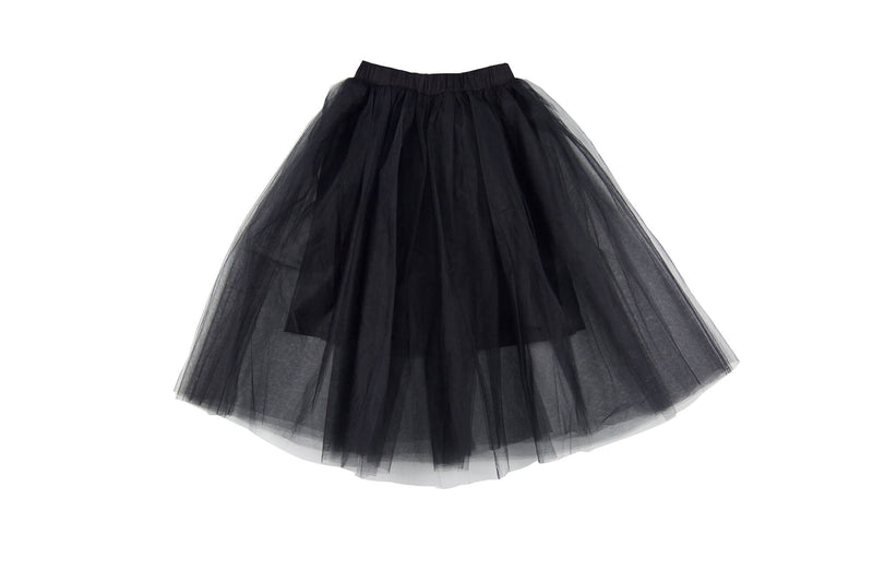 FEATHER DRUM - Beatrice Maxi Tulle Skirt / Black