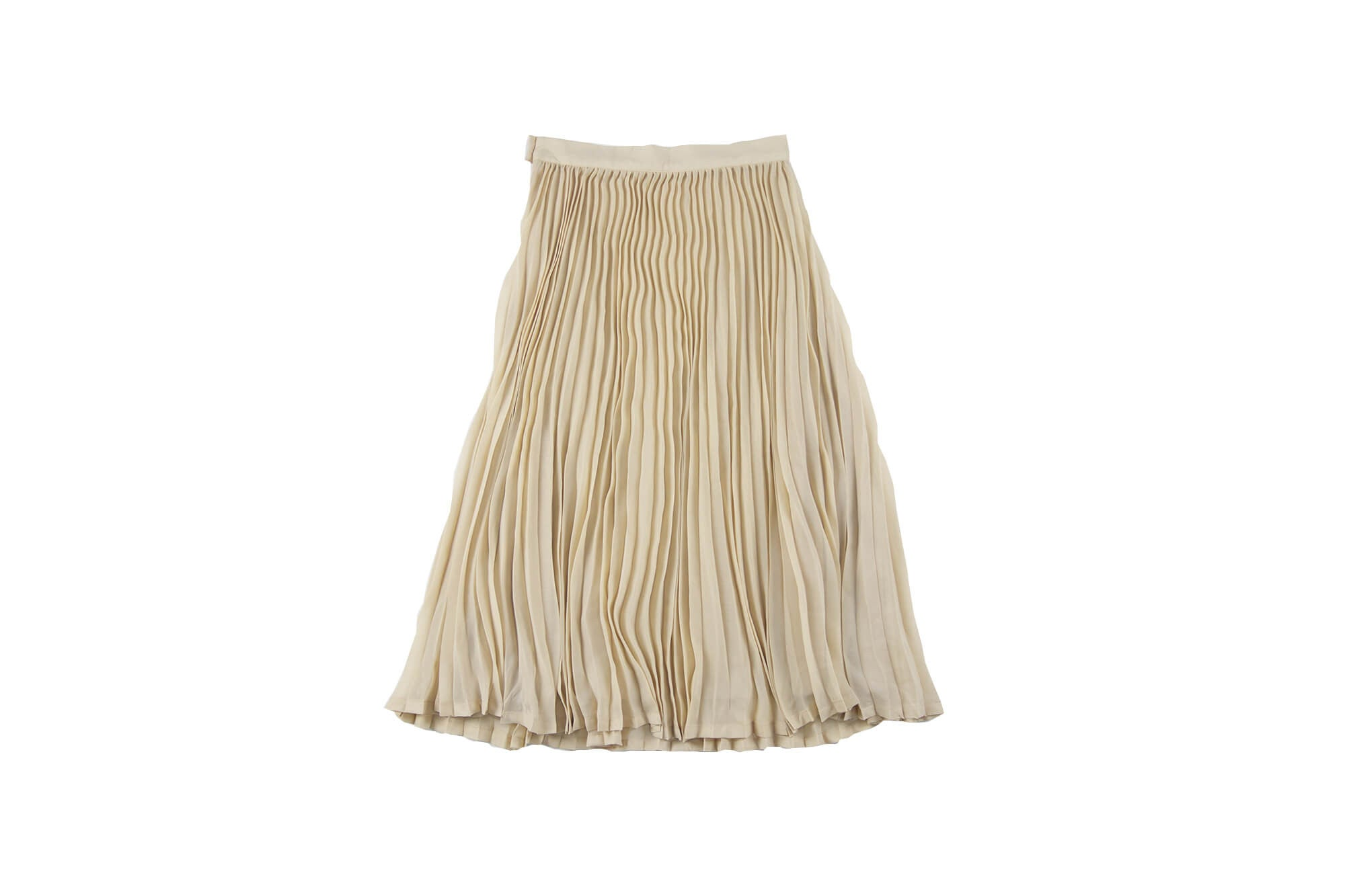 FEATHER DRUM - Ava Pleated Maxi Skirt / Nude