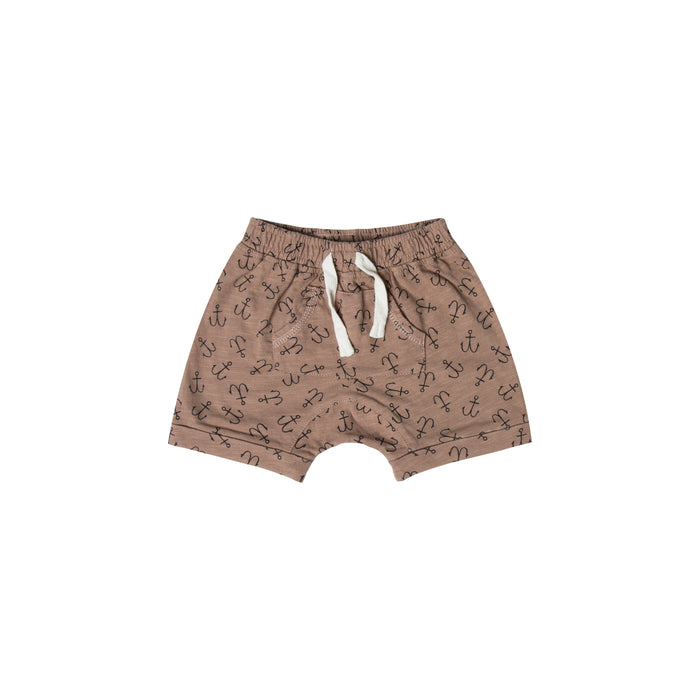 RYLEE + CRU - Anchor Front Pouch Shorts / Cocoa