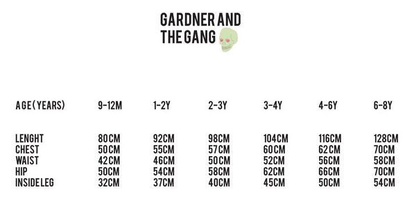 GARDNER AND THE GANG - The Thermo Vest Girl Gang + Boy Gang / Black (LAST ONE 3-4Y)