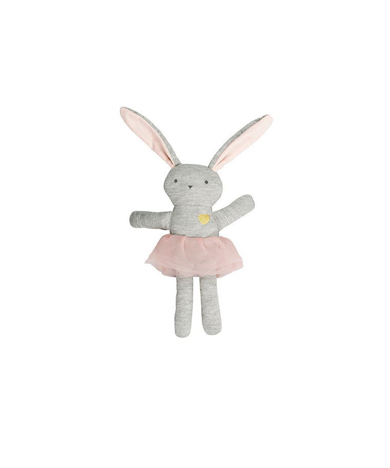 HUXBABY - Bunny Toy / Tearose + White Stripe