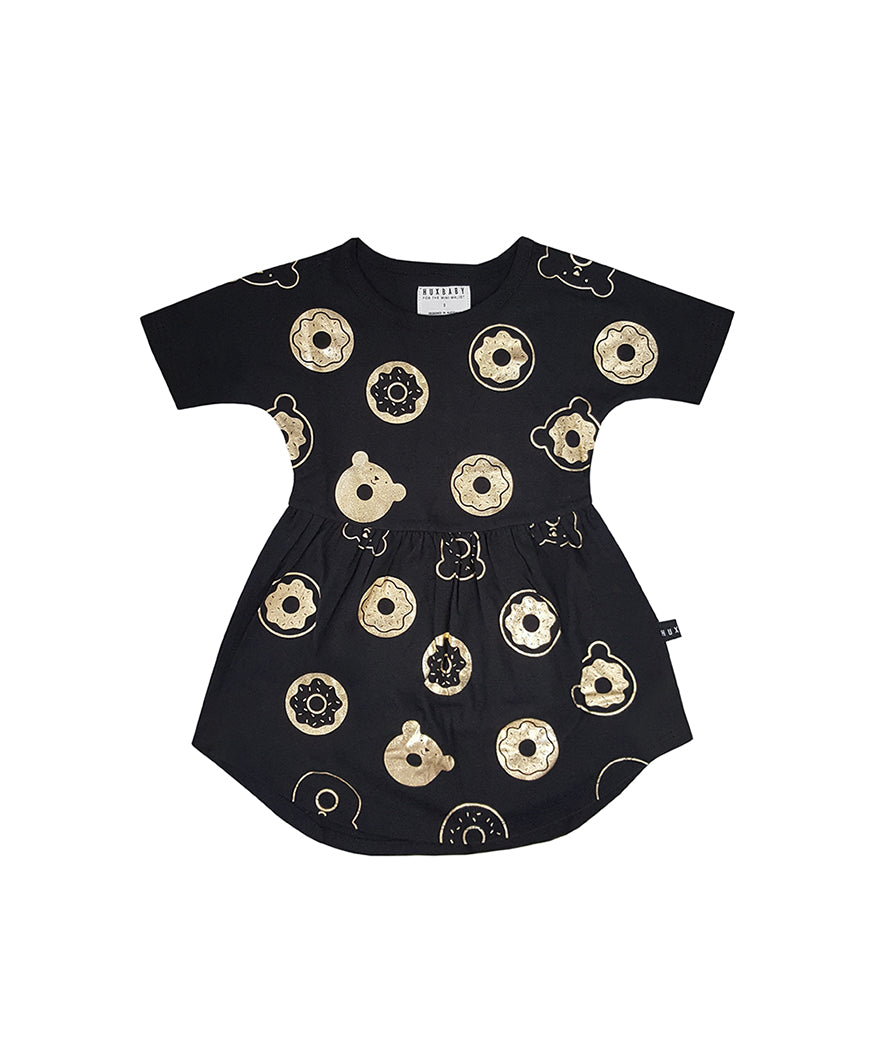 HUXBABY - Donut Swirl Dress / Black