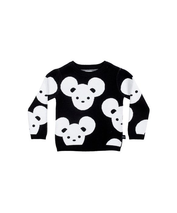 HUXBABY - Mouse Knit Jumper / Black