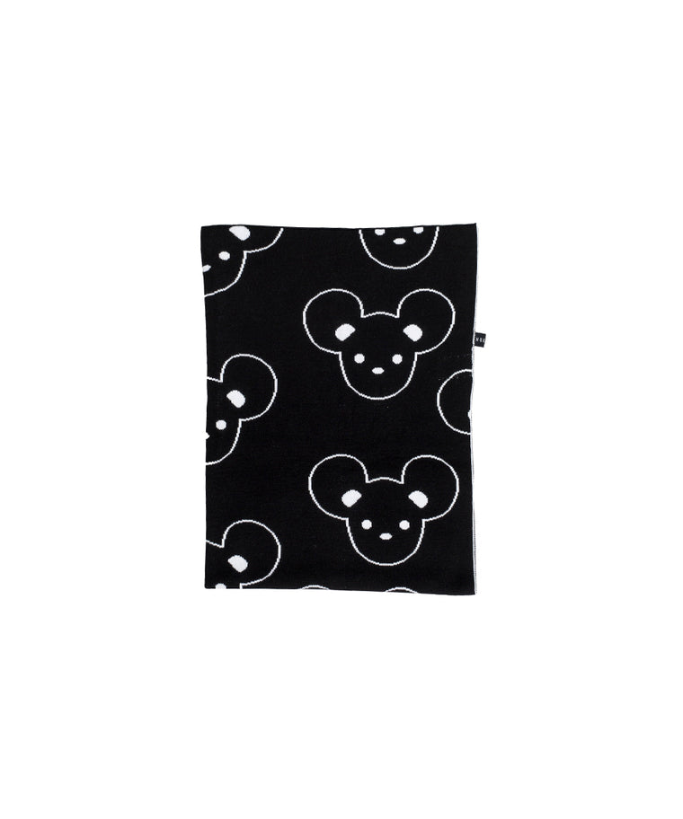 HUXBABY - Mouse Knit Blanket / Black (LAST ONE)