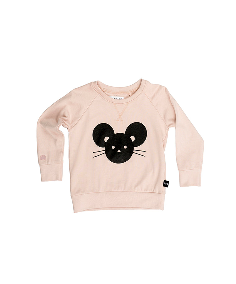 HUXBABY - Mouse Sweatshirt / Tearose