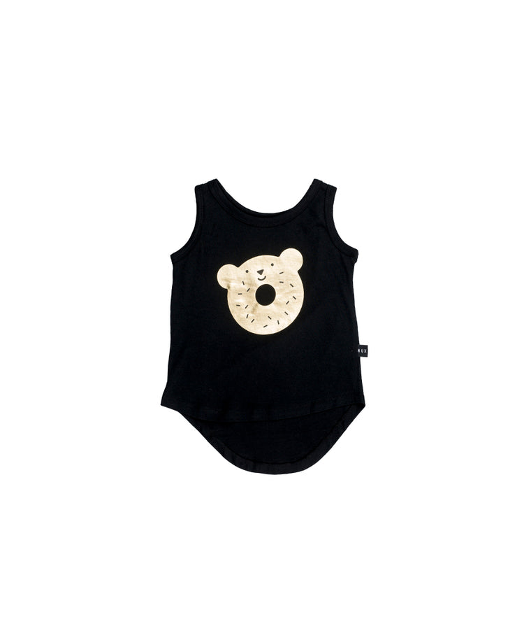 HUXBABY - Dough Bear Singlet / Black