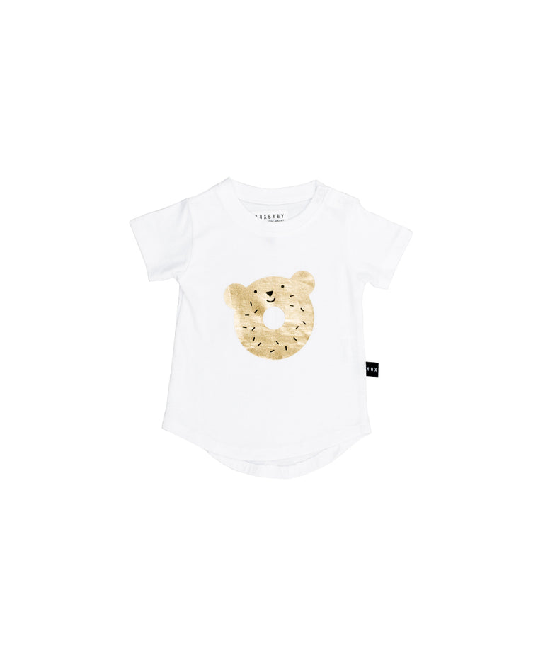 HUXBABY - Dough Bear T-Shirt / White