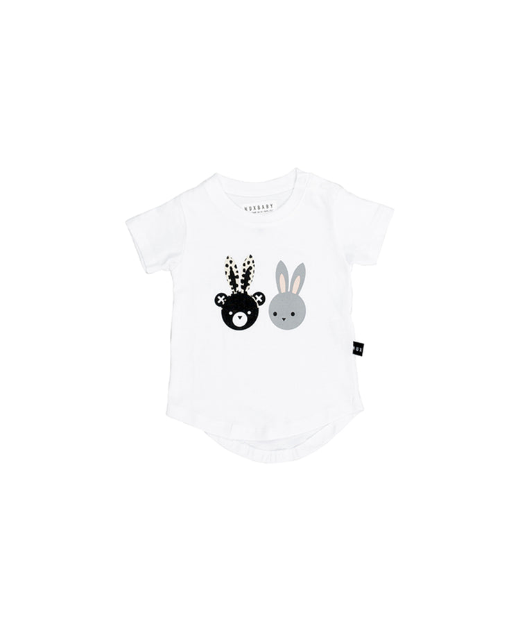 HUXBABY - Bunny Bear T-Shirt / White