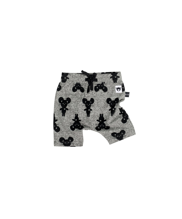HUXBABY - Mouse Shorts / Charcoal Slub