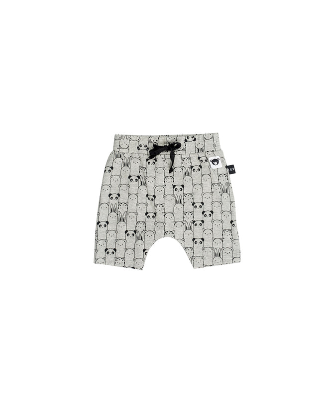 HUXBABY - Animals Shorts / Grey Marle