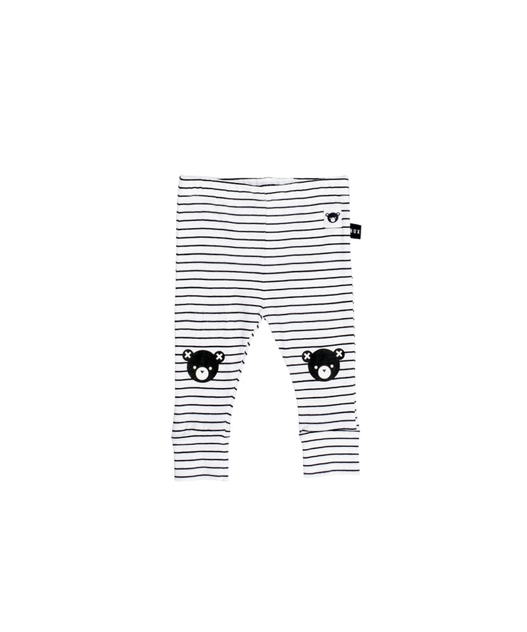 HUXBABY - Stripe Legging / Black + White Stripe