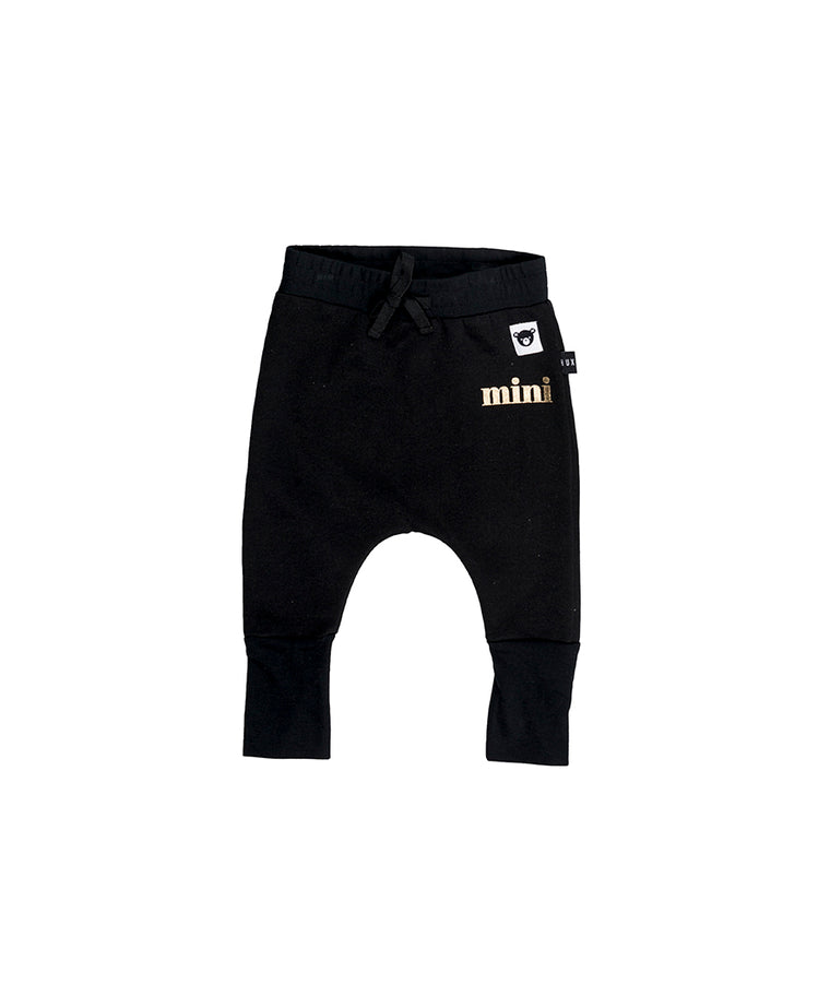 HUXBABY - Fleece High Cuff Pant / Black