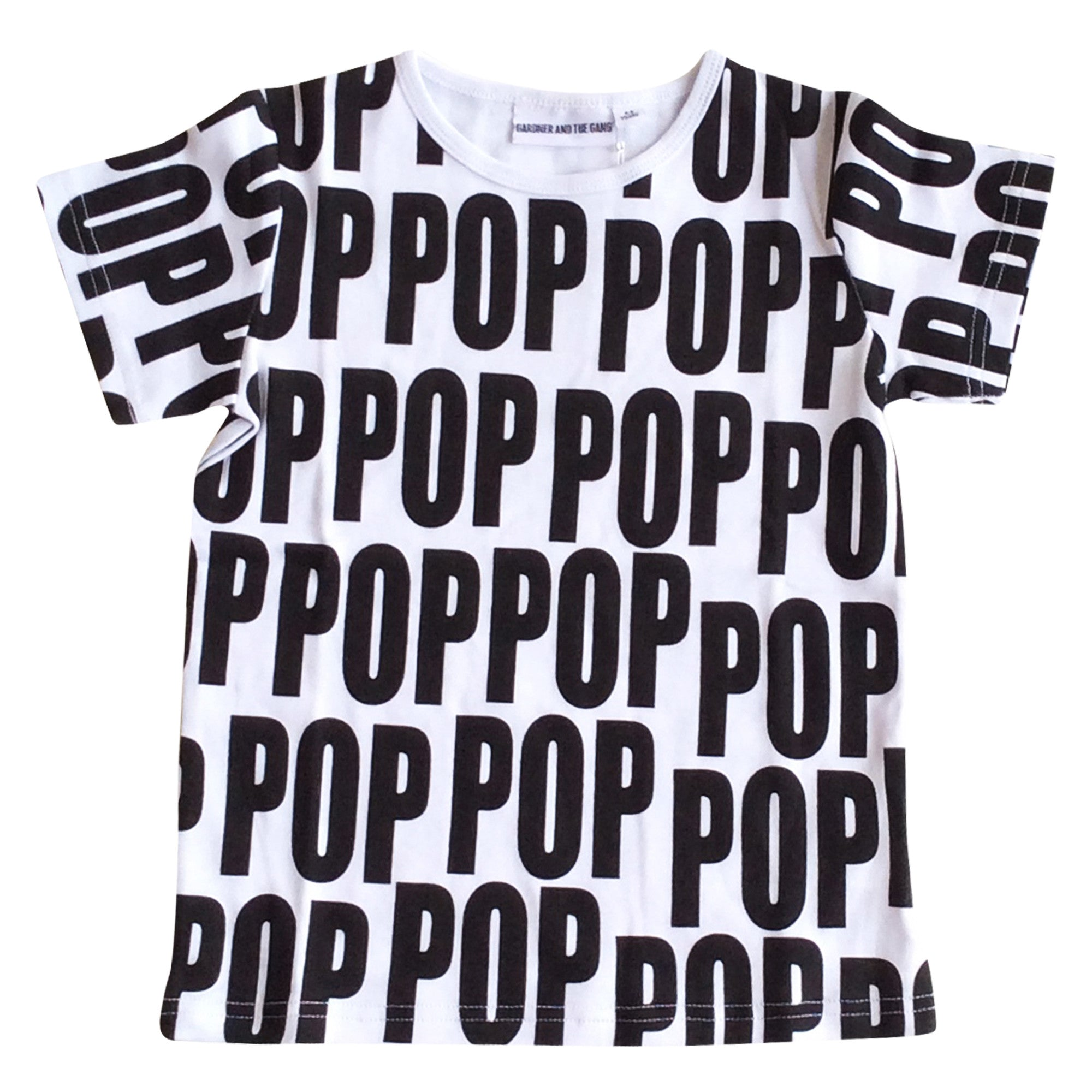 GARDNER AND THE GANG - The Cool Tee Pop / White (LAST ONE 9-12M)