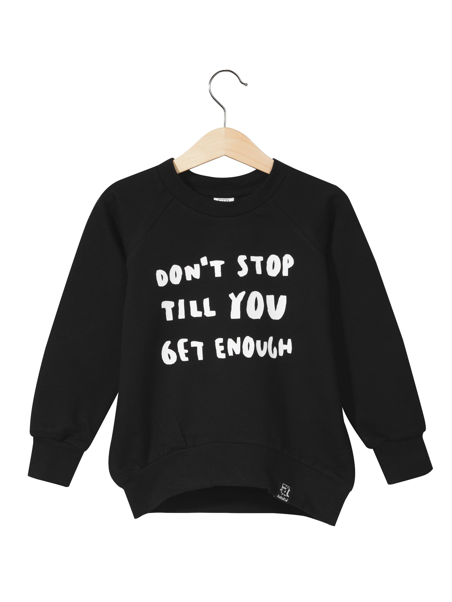 KUKUKID - Sweatshirt Don't Stop Till You Get Enough / Black (LAST ONE 1-2Y)