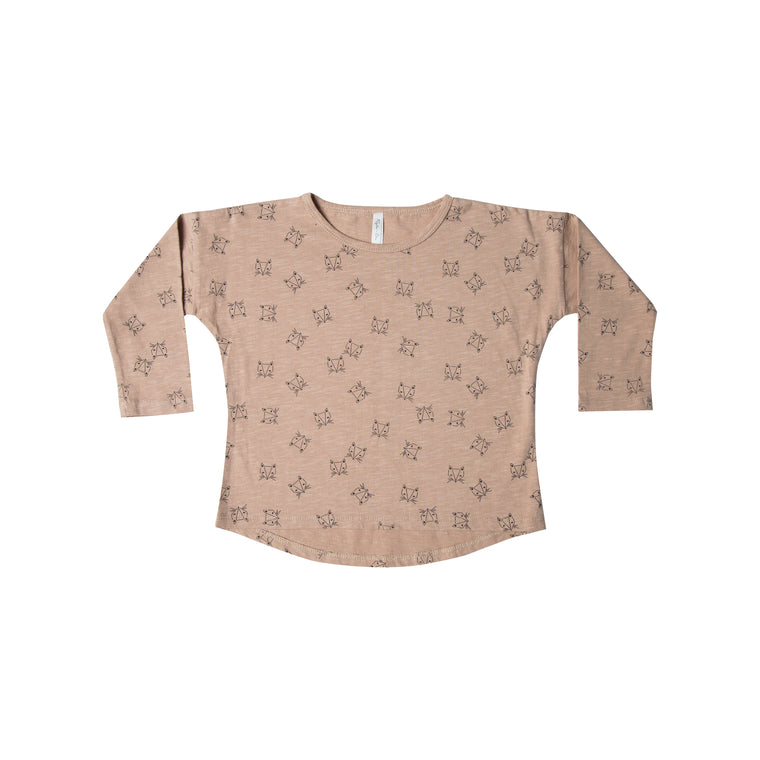RYLEE + CRU - Foxes Longsleeve Tee / Dusty Rose
