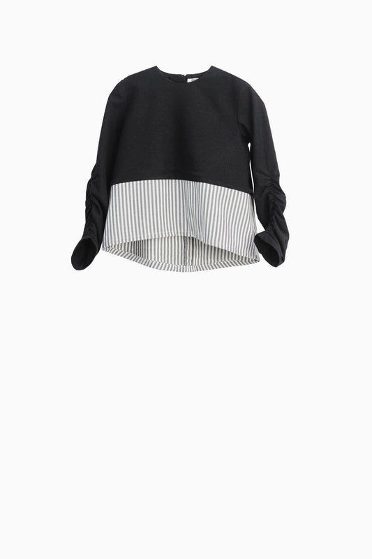 MOTORETA BABY - Sora Top / Black + Stripes (LAST ONE 12M)
