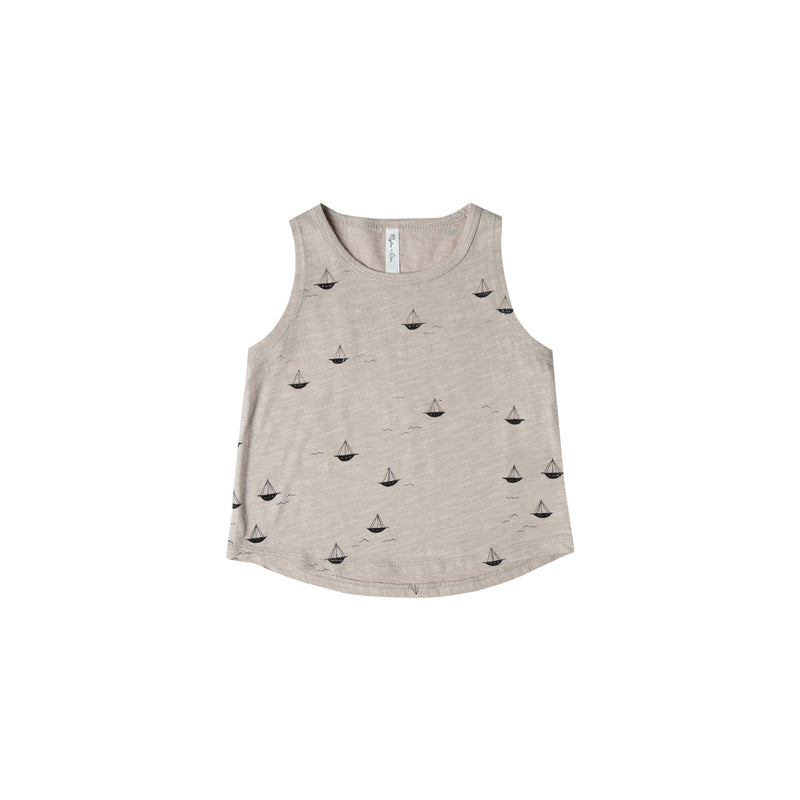 RYLEE + CRU - Sailboat Muscle Tank / Pebble