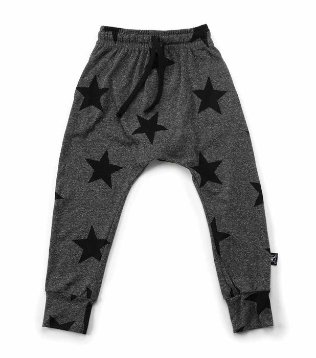 NUNUNU - Star Baggy Pants / Charcoal