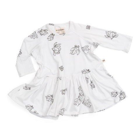 NOAH & BOWIE - Bow Dress / White Magnolia