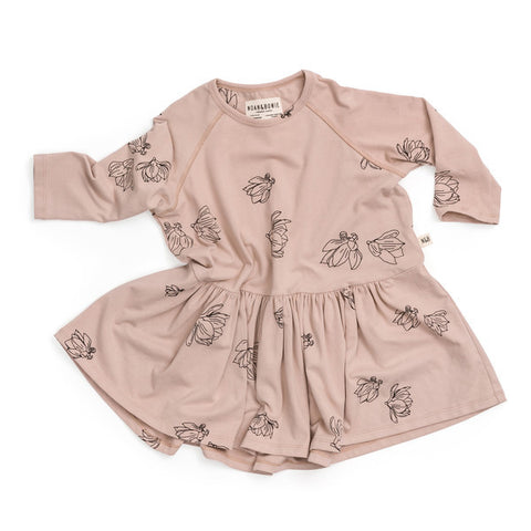 NOAH & BOWIE - Bow Dress / Rose Magnolia