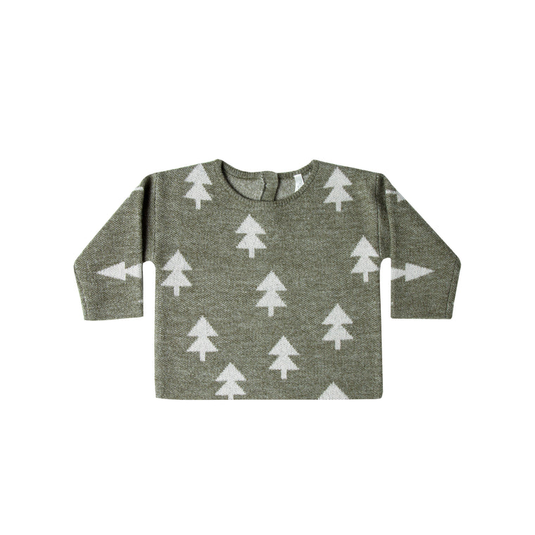 RYLEE + CRU - Forest North Sweater / Glacier (LAST ONE 6/12M)