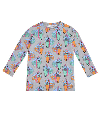 GARDNER AND THE GANG - Pete the Pony Long Sleeve T Shirt / Grey